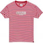 Superdry - Minimal Logo Stripe Portland T-Shirt Damen nautical red
