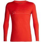 Icebreaker - 200 Oasis Deluxe Raglan Long Sleeve Crewe Men single line red