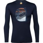 Icebreaker - 200 Oasis Crewe Mt Blanc Undershirt Men midnight navy