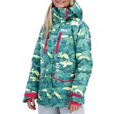 Picture - May Jacket Damen blue camo print