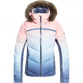 Roxy - Snowstorm Printed Down Jacket Women powder blue gradient