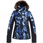 Roxy - Jet Ski Premium Ski Jacket Women mazarine blue striped leaves