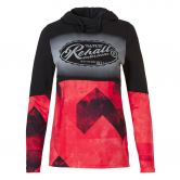 Rehall - Yara Hoodie Women graphic mountains red pink