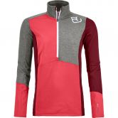 ORTOVOX - Fleece Light Zip Neck Fleece Pullover Women hot coral