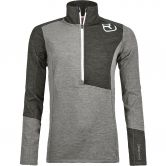 ORTOVOX - Fleece Light Zip Neck Fleece Pullover Women grey blend