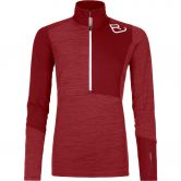 ORTOVOX - Fleece Light Zip Neck Pullover Damen dark blood blend