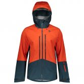 Scott - Explorair 3L Jacket Men tangerine orange nightfall blue