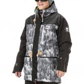 Picture - Under Lucky Jacke Herren print forest black leather