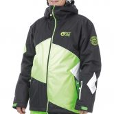 Picture - Styler Jacke Herren black neon green white
