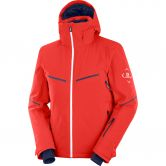 Salomon - Brilliant Ski Jacket Men goji berry white night sky