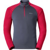 Odlo - Pact 1/2 Zip Midlayer Men ombre blue jester red