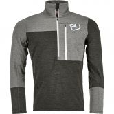 ORTOVOX - Fleece Light Zip Neck Pullover Herren grey blend