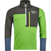 ORTOVOX - Fleece Light Zip Neck Fleece Pullover Men matcha green