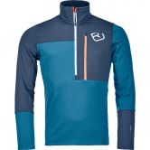 ORTOVOX - Fleece Light Zip Neck Fleece Pullover Men blue sea