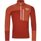 ORTOVOX - Fleece Light Zip Neck Pullover Herren clay orange