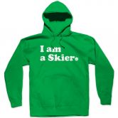 Line - I am a Skier Hoodie Men kelly green