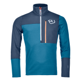 ORTOVOX - Fleece Light Zip Neck Fleecepullover Herren blue sea