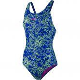 Speedo - Boom Allover Muscleback Schwimmanzug Damen blue/green