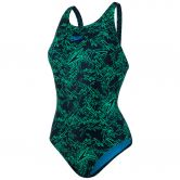 Speedo - Boom Allover Muscleback Swimsuit Women black fake green windsor blue