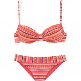 Lascana - Underwire-Bikini Women orange print