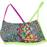 Speedo - Psychedelic Dreams Crossback Top & Brief Bikini Women black bright zest neon orchid