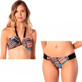 Rip Curl - Sunshine Patchwork Bandeau Bikini Set Women black