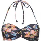Lascana - Underwire-Bandeau Bikini Top Women flower print anthracite