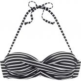 S.Oliver - Underwire-Bandeau Bikini Top Women black white stripes