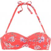 Lascana - Sunseeker Underwire-Bandeau Bikini Top flower print orange