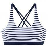 Lascana - Bustier Bikinitop Damen marine weiß