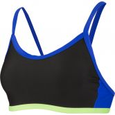 Speedo - Hydractive Crop Top Damen black chroma blue bright zest