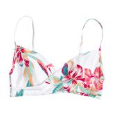 Roxy - Lahaina Bay Wrap Bra Bikini Top Women bright white tropic call
