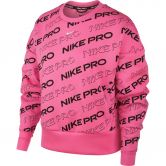 Nike - Pro Fleece Fitnessshirt Damen digital pink metallic silver