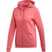 adidas Sport 2 Street Knit Full Zip Hoodie Women white at