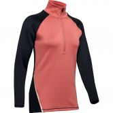 Under Armour - ColdGear® Armour ½ Zip Colour Block Shirt Women fractal pink