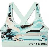 Under Armour - Mid Crossback Printed Sports Bra Women seaglass blue