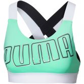 Puma - Feel It M Sport-BH Damen green glimmer puma white