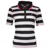 Canyon - Poloshirt 1/2 Arm Damen schwarz weiß pink
