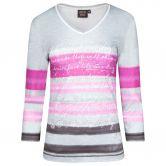 Canyon - T-Shirt 3/4 Arm Women silvergrey pink aubergine