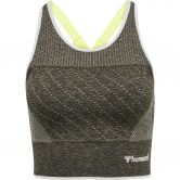 Hummel - hmlHANA Seamless Sports Top Damen vetiver melange