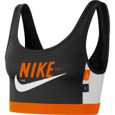 Nike - Icon Clash Medium Sports Bra Women black safety orange