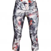 Under Armour - Armour Fly Fast Printed Caprihose Damen ash taupe orange dream reflective