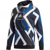 adidas - Allover Print Hoodie Herren white team royal blue grey four black