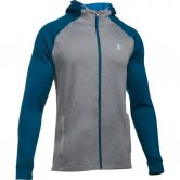 Under Armour - Tech Terry Fitted FZ Hoodie Herren grau