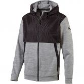 Puma - Tech Fleece FullZip Hoodie Herren grey heather